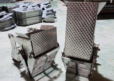 hoppers for multihead weigher