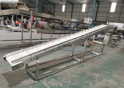 cleated inclined conveyor